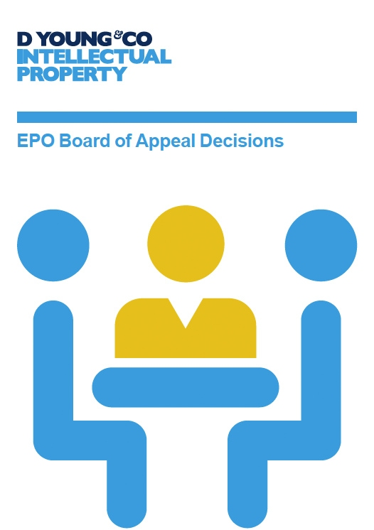 Patent-Buch EPO Board of Appeal Decisions